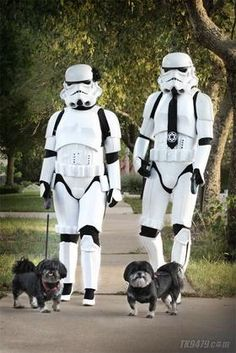 This is hilarious! It wouldn't have been as funny had their dogs not look JUST like the ewoks from star wars! Anakin Vader, Darth Vader, Jamel, New Neighbors, Star Wars Humor, Love Stars, Cultura Pop, Star Wars Art, Star Trek