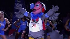 Name the #Clippers mascot introduced to fans this week? From #1 #NBA Quiz App www.nbabasketballquizgame.com