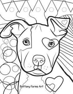 Pitbull Coloring Pages | Coloring Pages | coloring pages | Pinterest ...