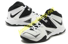 a0b866b14e45 Nike Zoom Lebron Soldier 7 Sample Simple White Black Metallic Silver 599264  003