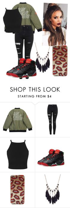 """Outfit#98"" by pandagirl2102 ❤ liked on Polyvore featuring Chicnova Fashion, Topshop, Jordan Brand, women's clothing, women, female, woman, misses and juniors"