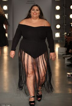 Seven women of all shapes and sizes took to the stage to showcase their wildly different body shapes in Simply Be's 'size inclusive fashion show' in London's Soho on Thursday night.