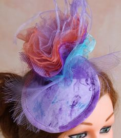 lilac and tulle  #HatAcademy #millinery