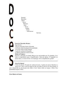 Doces E Licores