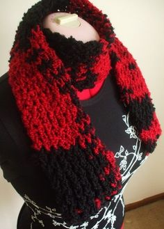 Another scarf made with my knitting loom.