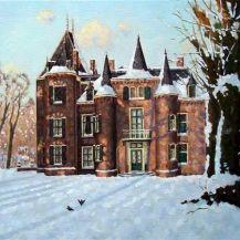 Kasteel Keukenhof Schilderij van Leo van den Ende #kunst #winterlandschap #schilderijen