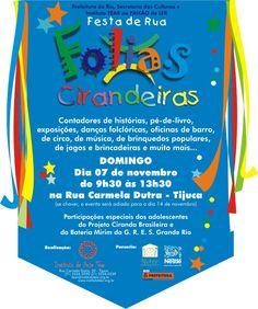 Flyer Folias Cirandeiras - out/2004