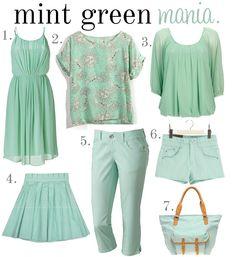 cute mint green clothes!