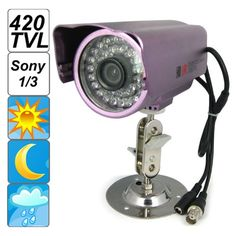 29.58$  Buy here - http://ali8bu.shopchina.info/go.php?t=32793541671 - High Quality Violet IP66 Waterproof 420 TV Lines 36 IR LED CCD Camera with Sony Sensor  #buyininternet