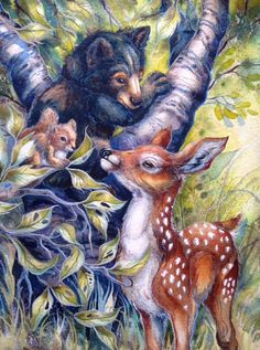 Bergsma Gallery Press :: Paintings :: New Images 2016 :: 'You Make Life Better' - Prints Art Sketches, Art Drawings, Lilies Drawing, Pencil Drawings Of Animals, Scratchboard Art, Bear Art, Watercolor Animals, Wildlife Art, Animal Paintings