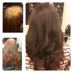 Before home colour after wella illumina professional colour by Salon Sienna