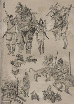 sketches, Herman Ng on ArtStation at https://www.artstation.com/artwork/8mw9Q