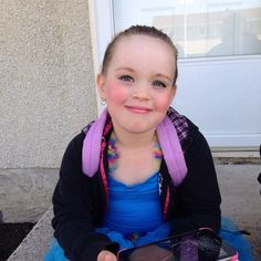 My little girl is all prettied up for her ballet dress rehearsal!
