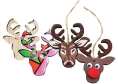These Hanging Wooden Reindeer Shapes are the perfect way to decorate your classroom or home this Christmas!