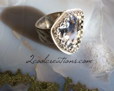 Plume Agate Ring by Tina Murphy www.2coolcreations.com