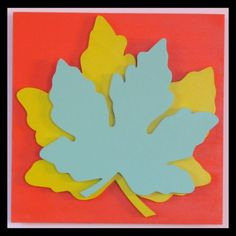 "Wall Art Leaf Plaques - 3 Dimensional:  ""The Autumn Leaves Drift By My Window""  http://www.etsy.com/listing/30452664/wall-art-leaf-plaques-3-dimensional-the"