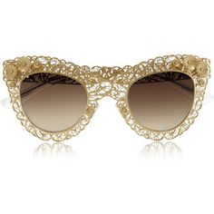 86d0b56c775 Dolce   Gabbana Cat eye filigree gold-tone sunglasses