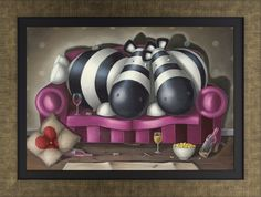 A framed and hand-signed, limited edition canvas on board by popular contemporary artist Peter Smith.