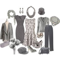 Grey, created by #testurumsey on #polyvore. #fashion #style Dorothy Perkins H&M