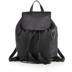 Rebecca Minkoff Moto Leather Backpack (2.975 NOK) ❤ liked on Polyvore featuring bags, backpacks, apparel & accessories, black, rebecca minkoff backpack, drawstring backpack, rebecca minkoff, black drawstring backpack and black leather rucksack
