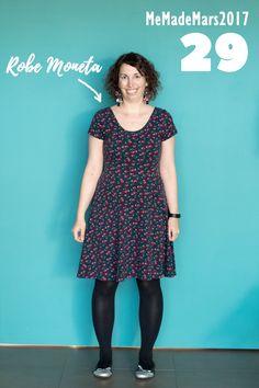 En robe Moneta de Colette Patterns pour le jour 29 du Me Made Month Mars 2017 Colette Patterns, Blog Couture, Bullet Journal, Mars, Diy, Vintage, Style, Fashion, Dress