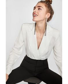 BODYSUIT WITH LAPEL COLLAR-View all-TOPS-WOMAN | ZARA United Kingdom
