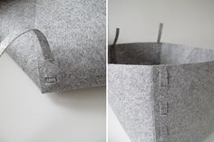 how to make a no-sew felt storage box