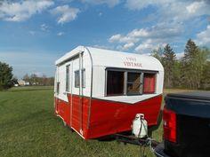 front done Old Campers, Recreational Vehicles, Chevy, Restoration, Vintage, Camper, Vintage Comics, Campers, Single Wide