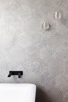 The PHOENIX Rush Wall Set in ONIX matte black featured in the Williamstown property on Grand Designs Australia. Would make a beautiful backsplash. Grand Designs Australia, Bad Inspiration, Bathroom Inspiration, Laundry In Bathroom, Small Bathroom, Bathroom Mirrors, Aqua Bathroom, Bathroom Feature Wall Tile, Master Bathroom
