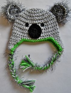Crochet Koala Hat by FreeSpiritCrocheting on Etsy