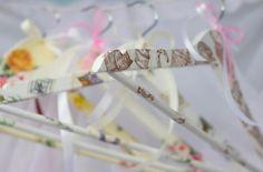Set of 4 Handmade Hanger Bride Hanger Gift for от Pavlasklidish