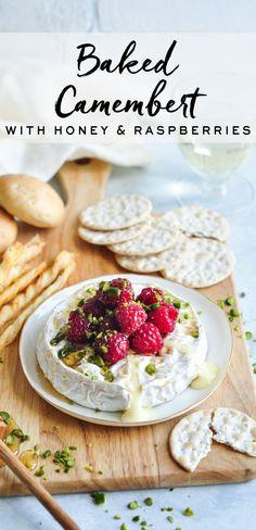 Baked Camembert with Honey & Raspberries | Baked Brie | eatlittlebird.com