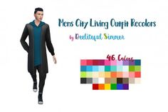 Deelitefulsimmer: Mens City Living Outfit recolor • Sims 4 Downloads