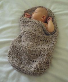 CROCHET PATTERN Little Peanut Snuggle Sack - Pattern PDF