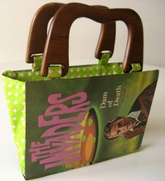 make a cute handbag out of a book (such a good idea...play around using different types of handles and embellishments)