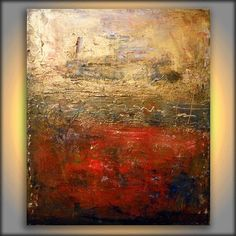 original large metallic gold red texture impressionist painting 22 x 28 abstract wall decor gritty distressed modern art Abstract Art Painting, Modern Artwork, Art Painting, Painting, Abstract Art, Texture Painting, Abstract, Gold Abstract Painting, Contemporary Oil Paintings