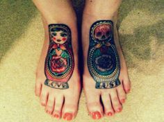 thinking a day of the dead russian nesting doll tattoo coverup on left foot. i think it needs to happen. like yesterday.
