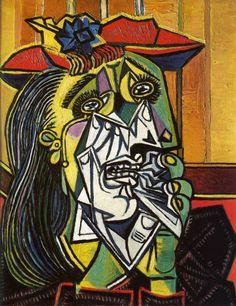 """Pablo Picasso, """"Femme en pleurs"""", 1937"""