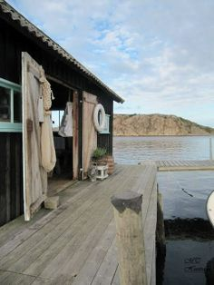 The Boathouse: a new definition to lakefront living! Boat Shed, Haus Am See, Lakefront Property, Beach Shack, Beach Cottages, Rustic Design, Coastal Living, French Chic, Decks