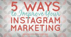 Is there a place for Instagram in your marketing plan?Do you want to use Instagram effectively for your business?Instagram is more than a fun, photo-based social network. It can help you promote your products or services, get more leads and generate conversions.In this article I'll