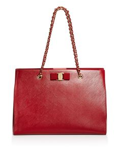 Salvatore Ferragamo Melike Medium Shoulder Bag In Rosso Red Italian Shoes, Online Bags, Luxury Handbags, Leather Shoulder Bag, Shoulder Bags, Tote Handbags, Red Gold, Pebbled Leather, Dooney Bourke