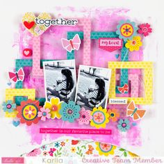Scrapbook Page Layouts, Scrapbook Pages, Sweet Home Collection, Creative Studio, Paper Crafts, Mom, Projects, Cherry, Anna