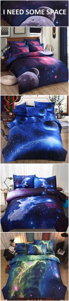 who wants these galaxy bedding sets? available at newchic.com!