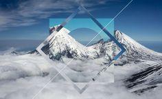 Mountain Polyscape - Clouds, Square, Circle