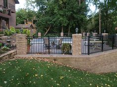 Backyard Pool, Lighting, Back Yards, Patio, Step Up, Rod Iron Fence