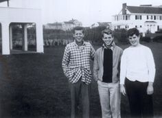 The Kennedy trio in the mid 30s as teenagers; John, Bobby and Teddy