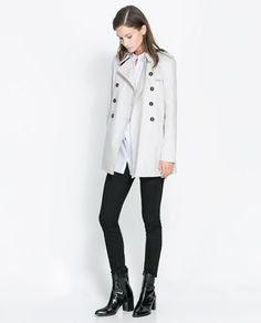 SHORT CROSSOVER TRENCH COAT from Zara