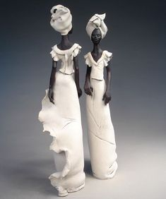 Annie Peaker Inspired by her love for African culture, UK Sculpture Clay, African American Figurines, African, Art Dolls, Ceramic Sculpture, Sculpture Art, Ceramics, African Art, Contemporary Ceramics