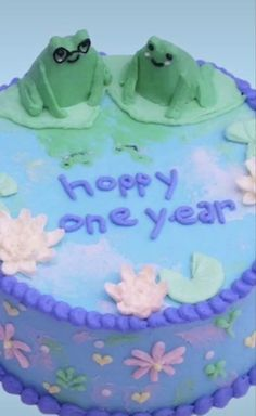Pretty Birthday Cakes, Pretty Cakes, Cake Birthday, Pastel Cakes, Frog Cakes, Cute Baking, Masterchef, Cute Desserts, Just Cakes