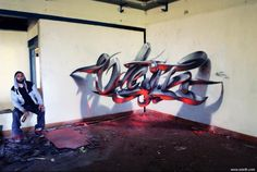 Awesome 3D graffiti by street artist Odeith
